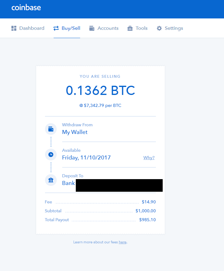 Coinbase Cash Out