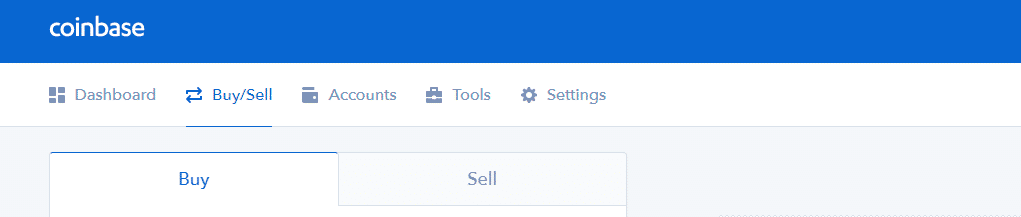 Coinbase buy and sell