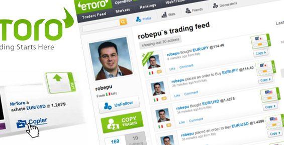 Copiare i migliori trader grazie al copy trader d'eToro